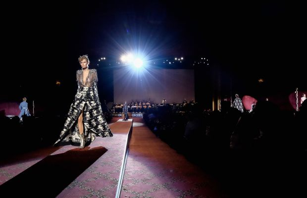The movie theater runway for Marc Jacobs. Photo: Dimitrios Kambouris/Getty Images