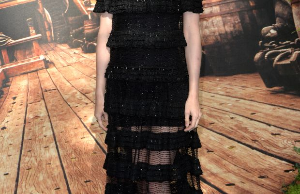 """Rooney Mara in Givenchy Haute Couture at the world premiere of """"Pan"""" in London on Sunday. Photo: Anthony Harvey/Getty Images"""