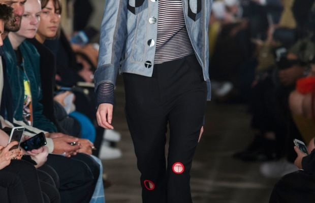 A look from Thomas Tait's spring 2016 show on Monday. Photo: Imaxtree
