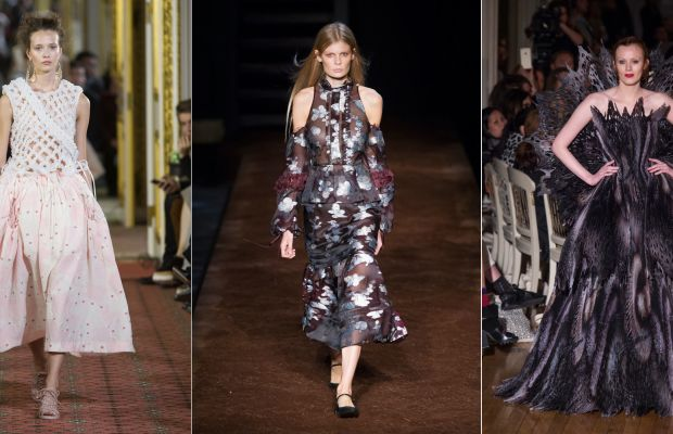 Simone Rocha, Erdem and Giles looked to English costume history for inspiration this season. Photo: Imaxtree