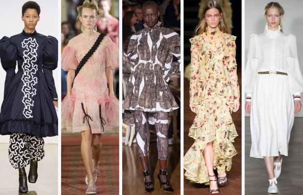 From left to right: J.W. Anderson, Simone Rocha, Giles, Erdem, and Mother of Pearl