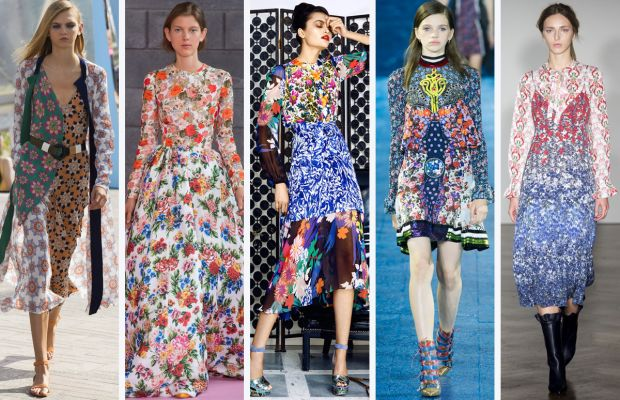 From left to right: Jonathan Saunders, Emilia Wickstead, Duro Olowu, Mary Katrantzou, and Mother of Pearl