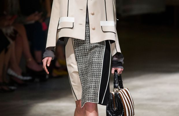 A look from Prada's spring 2016 collection. Photo: Imaxtree