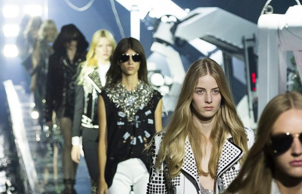The finale from Philipp Plein's spring 2016 show. Photo: Imaxtree