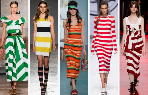 From left to right: Blugirl, Les Copains, Stella Jean, MaxMara, and No. 21. Photos: Imaxtree