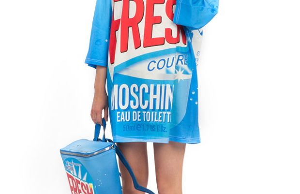 A look from Moschino's Spring 2016 capsule collection. Photo: Moschino.com