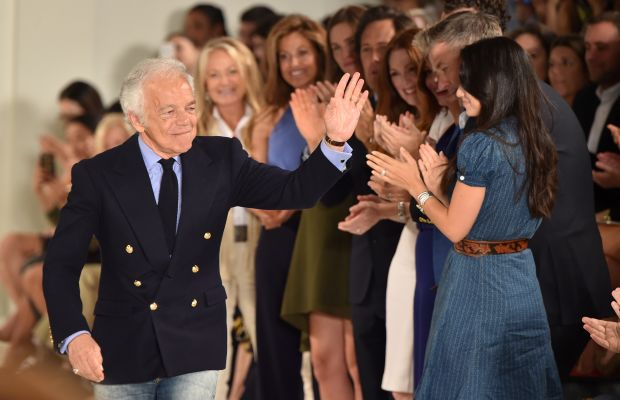 Ralph Lauren takes a bow at New York Fashion Week. Photo: Mike Coppola/Getty Images