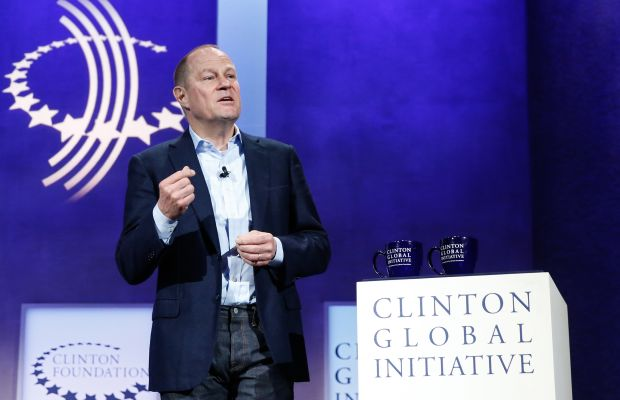 Art Peck, CEO of Gap Inc., at the Escalators of Opportunity session during the 2015 Clinton Global Initiative's Annual Meeting in New York City. Photo: JP Yim/Getty Images