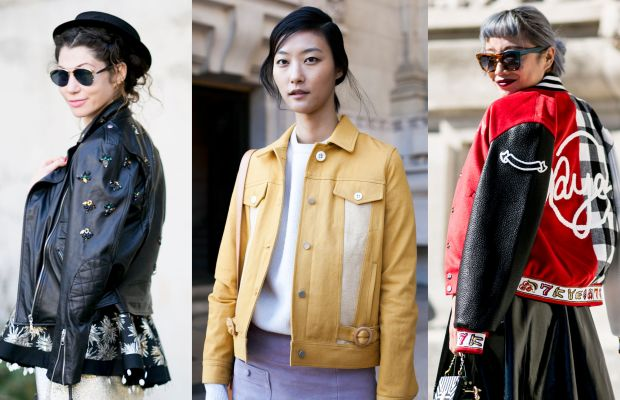 Jacket spotting outside the shows in Paris. Photos: Imaxtree, Emily Malan/Fashionista, Imaxtree