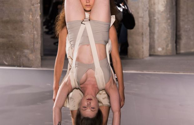 A look from Rick Owens's spring 2016 collection. Photo: Imaxtree