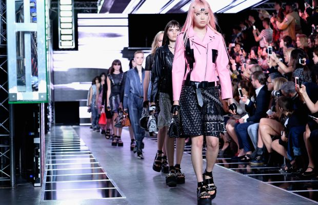 The finale walk at Louis Vuitton's spring 2016 runway show in Paris. Photo: Pascal Le Segretain/Getty Images
