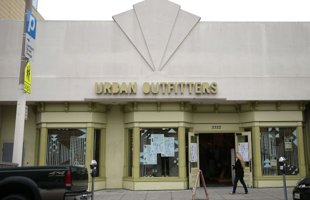 An Urban Outfitters store. Photo: Justin Sullivan/Getty Images