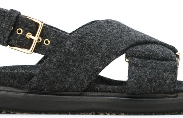 Marni criss-cross fussbett sandals, $570, available at Farfetch and Shoescribe.