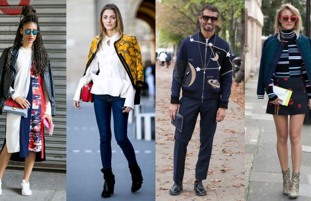 Elaine Welteroth, Sofia Sanchez de Betak, Simone Marchetti and Rebecca Laurey provided some of our favorite street style of the season. Photos: Imaxtree (left and second from left) and Emily Malan/Fashionista (second from right and right)