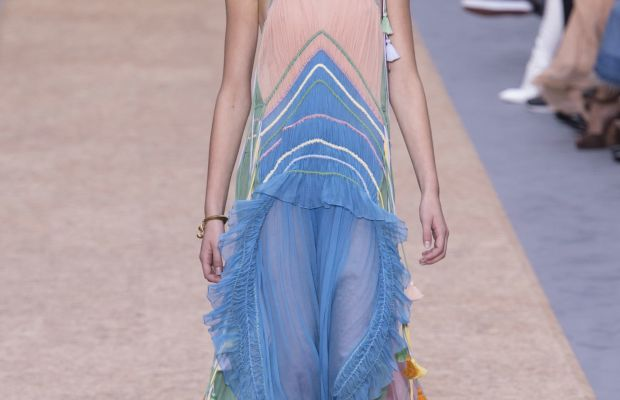 The final look from Chloé's spring 2016 collection. Photo: Imaxtree