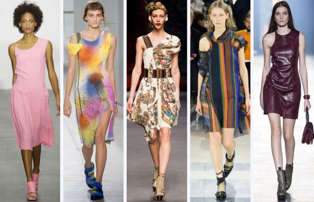 From left to right: J JS Lee, Christopher Kane, Antonio Marras, Sacai, and Versace