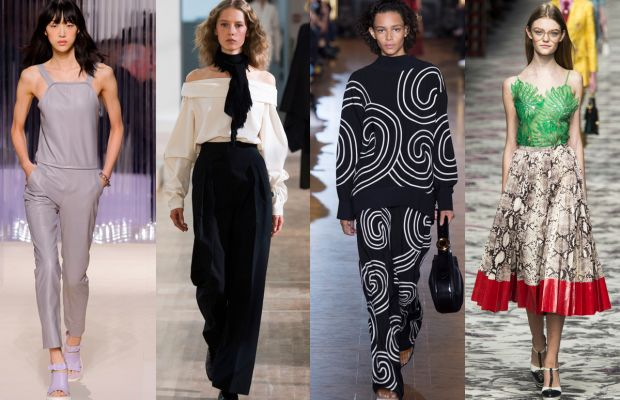 From left to right: Carven, Lemaire, Stella McCartney and Gucci. Photos: Imaxtree
