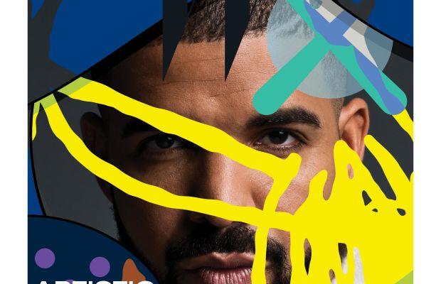 Drake and Kaws for W Art.