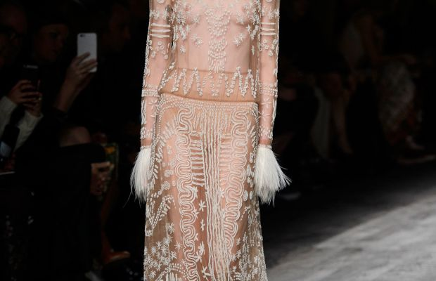 Valentino cast predominantly white models at its African-themed spring runway show. Photo: Imaxtree