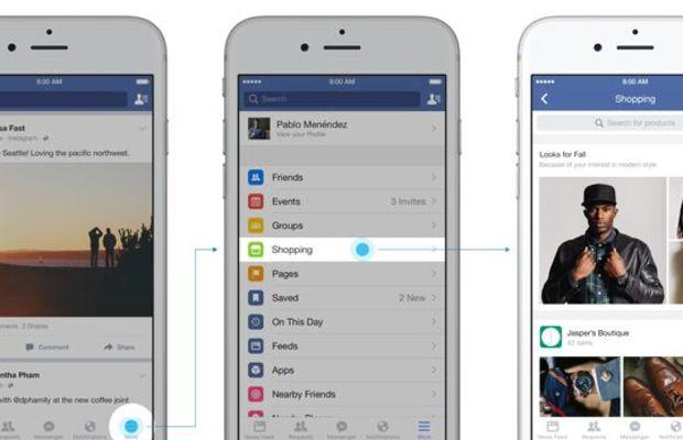 Facebook announced that it has begun testing a Shopping feed. Photo: Facebook