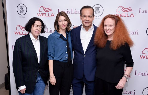 Fran Lebowitz, Sofia Coppola, Louis Licari and Grace Coddington. Photo: Grant Lamos IV/Getty Images