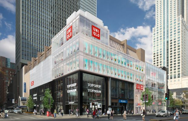 Uniqlo's latest store opening on Michigan Avenue in Chicago. Photo: Uniqlo