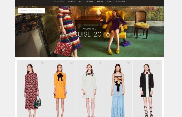 The new Gucci.com. Screengrab: Gucci