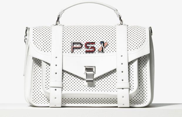 Proenza Schouler PS1 bag, $1,885 and pins, $75 each. Photo: Proenza Schouler