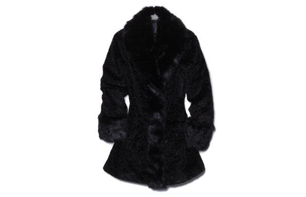 "Dan Lawson's ""From the Set"" faux fur coat. Photo: HSN"