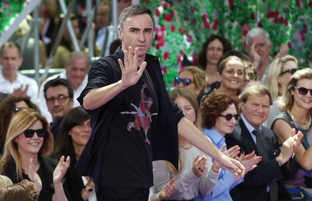 Raf Simons at Dior Haute Couture's fall 2015 show during Paris Couture Week. Photo: Francois Guillot/AFP/Getty Images