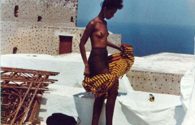 Santorini, Greece, 1982: Iman. Photo: Kelly Klein