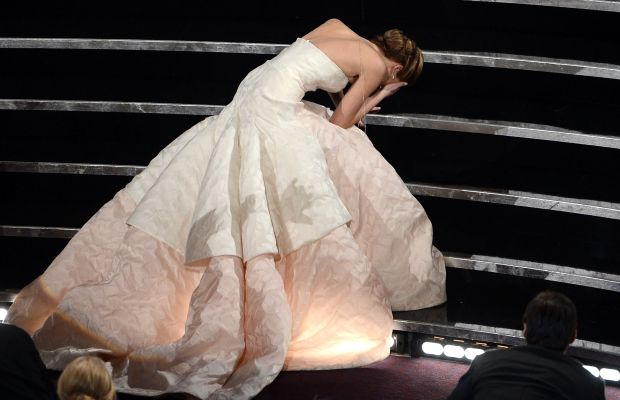 Jennifer Lawrence at the 2013 Oscars. Photo: Kevin Winter/Getty Images