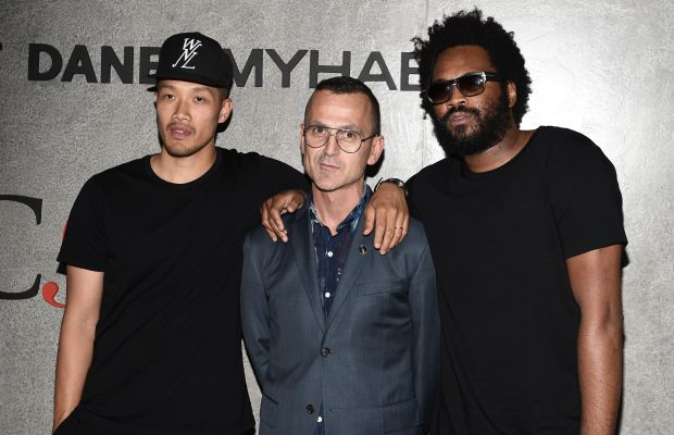 Dao-Yi Chow, Steven Kolb and Maxwell Osborne at the NYFW: Men's opening event. Photo: Andrew H. Walker/Getty Images
