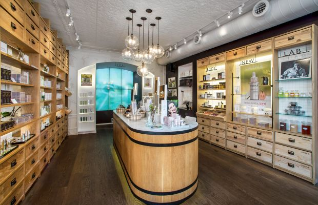 Inside the Caudalie Bleecker Street boutique. Photo: Courtesy of Caudalie