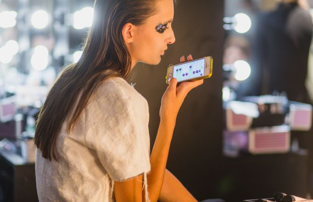 A model backstage at Vassa & Co.'s spring 2017 show during Mercedes-Benz Fashion Week Russia on Thursday. Photo: Christian Vierig/Getty Images