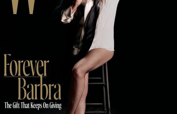"""Barbra Streisand on """"W"""" Magazine, Dec. 2016. Photo: """"W"""" Magazine"""