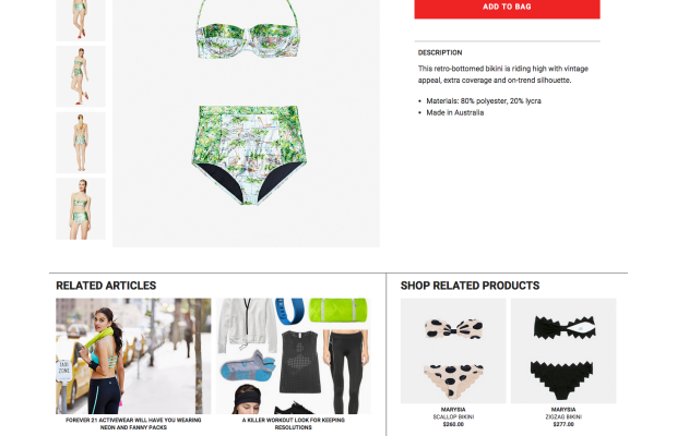 A product page on Luckyshops.com. Screenshot: Luckyshops.com