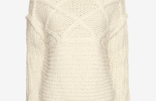 Apiece Apart fisherman stitch sweater, $279, available at Intermix.