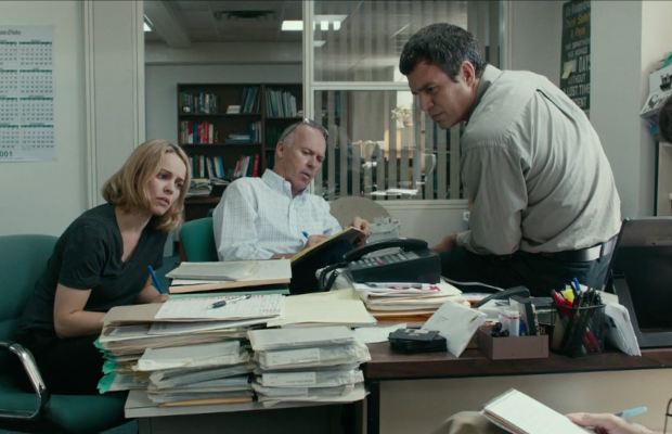'Spotlight' even manages to make conference calls exciting. Screengrab: Open Road Films