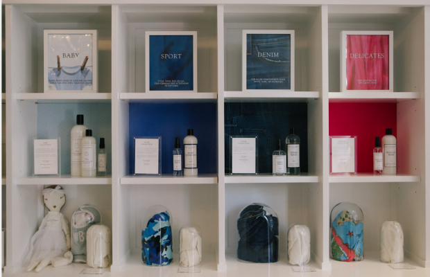 Products organized by fabric type. Photo: The Laundress