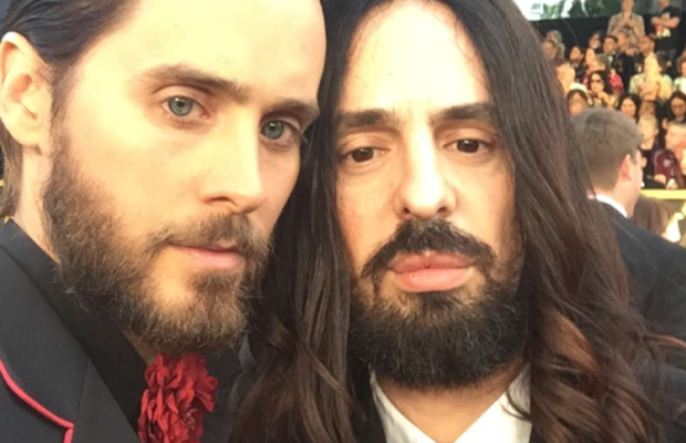 Leto and Michele at the 2016 Oscars. Photo: Screengrab