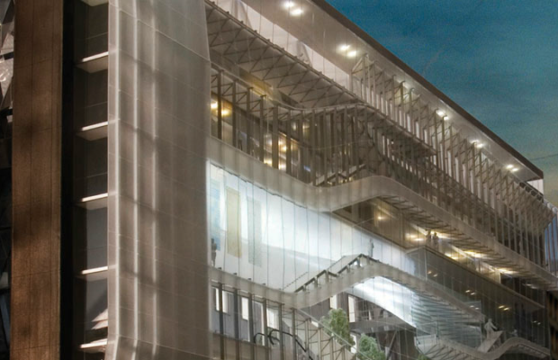 A rendering of the new building. Screengrab: FITnyc.edu