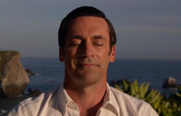 Nirvana? Nope. Don is dreaming up an ad. Screengrab: AMC