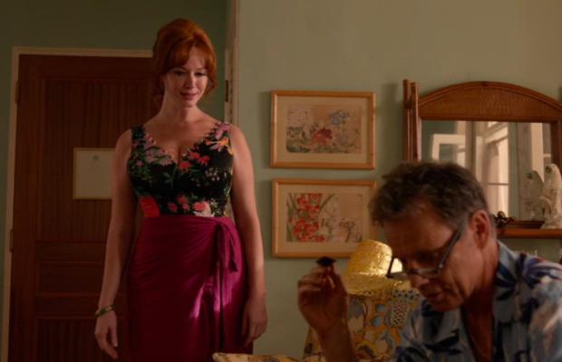 Joan in a one-piece wonder. Screengrab: AMC