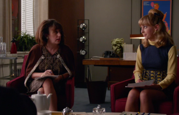 Two smart ladies, one not so smart boss. Screengrab: AMC