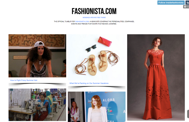 Hey, look, Fashionista even has a Tumblr!