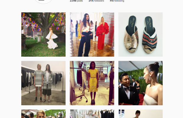 The new Instagram layout. Screengrab: @fashionista_com. (Follow us.)