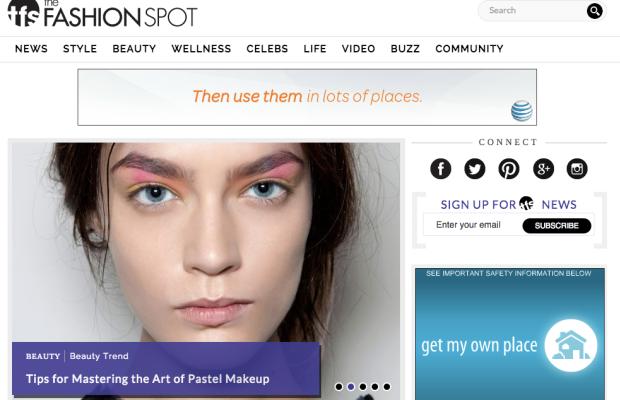 Screenshot: The Fashion Spot