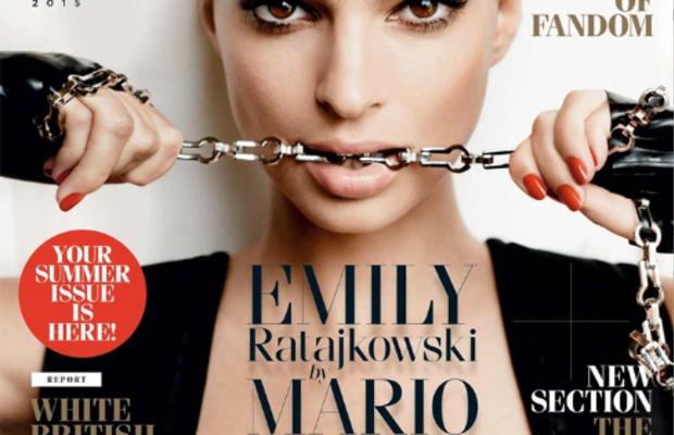 Emily Ratajowski on the September cover of 'GQ' UK. Photo: GQ