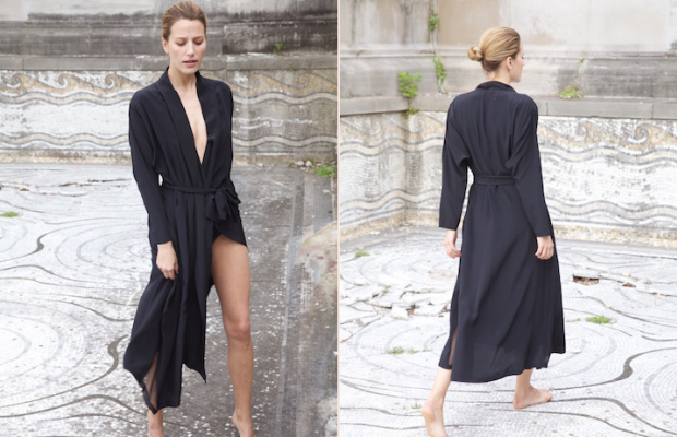 A Datura kimono dress that can also be worn open as a coat. Photo: Datura